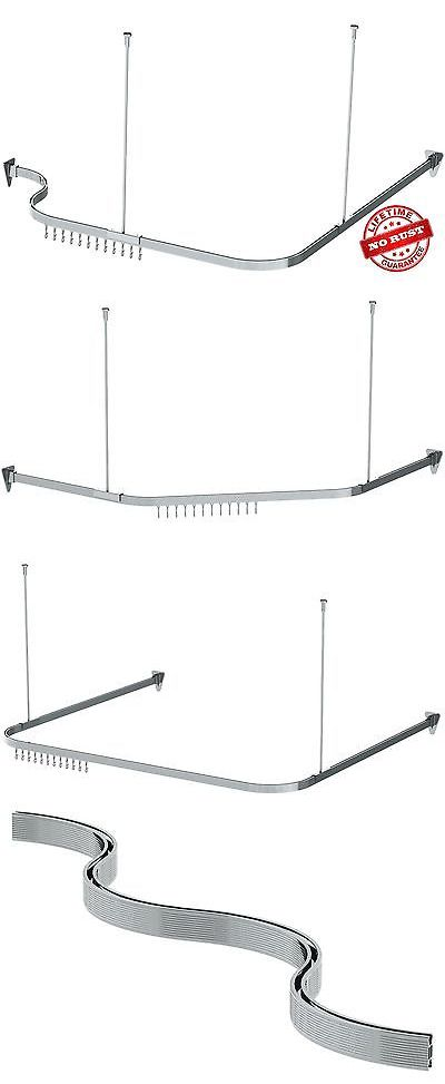 Shower Curtain Rods 168132: Bendable Shower Curtain Rod, Curved, Chrome By  Showerauthority™
