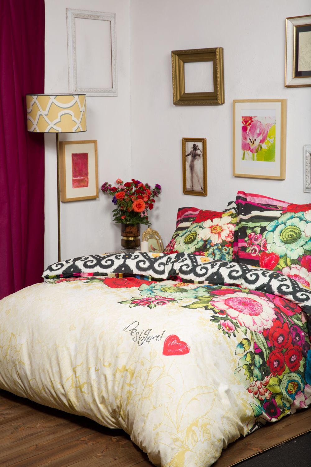 Make your home your palace with desigual this beautiful floral bedding will add a touch of - Desigual home decor ...