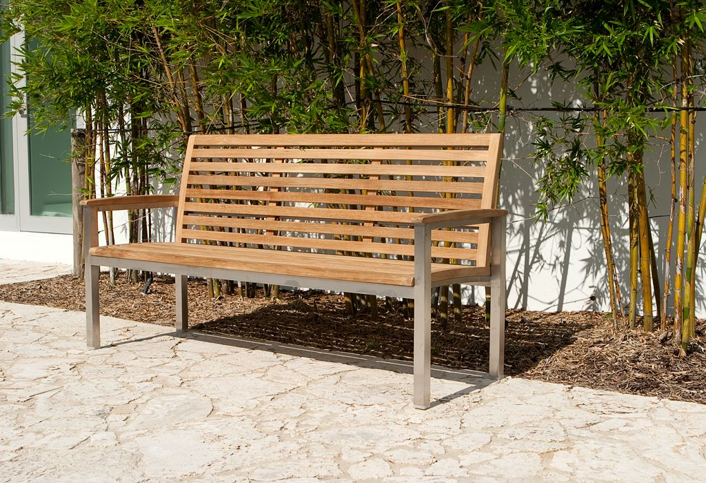 5 Ft Vogue Bench Teak Stainless Steel Westminster Teak Westminster Teak Teak Bench Teak Outdoor Furniture
