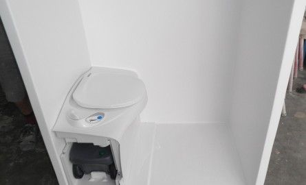 camper shower toilet combo | Fibreglass Shower with Thetford Cassette Toilet