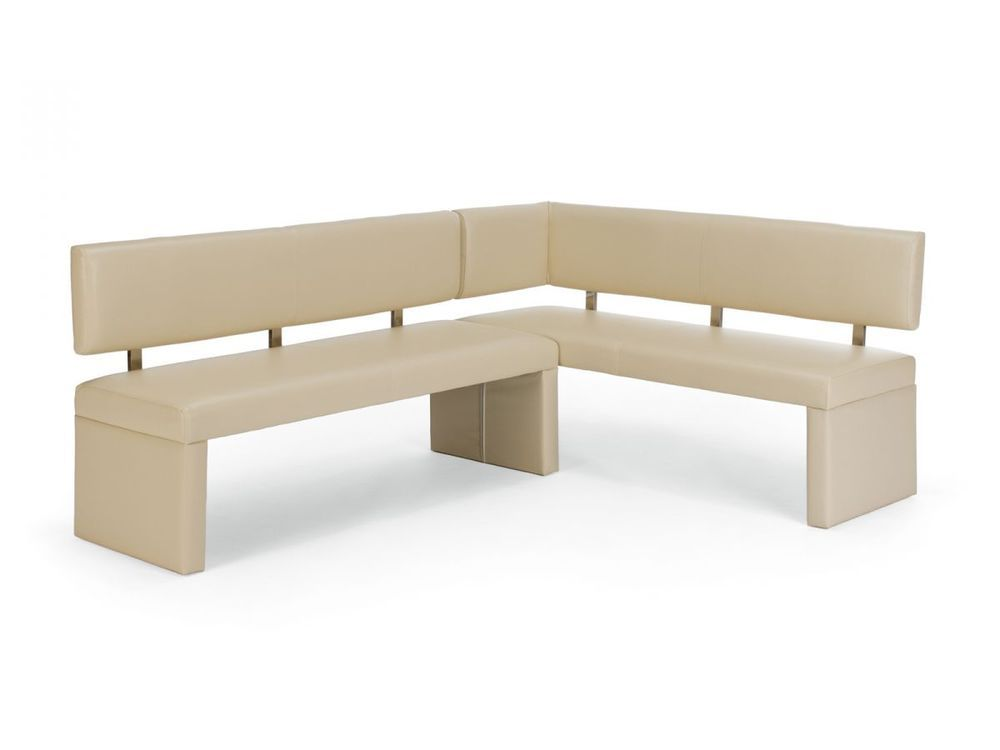 Banc D Angle Banquette Cuisine Salle A Manger 140x180 Simili Cuir Creme Mathis Dining Bench Leather Dining Bench Breakfast Nook Bench
