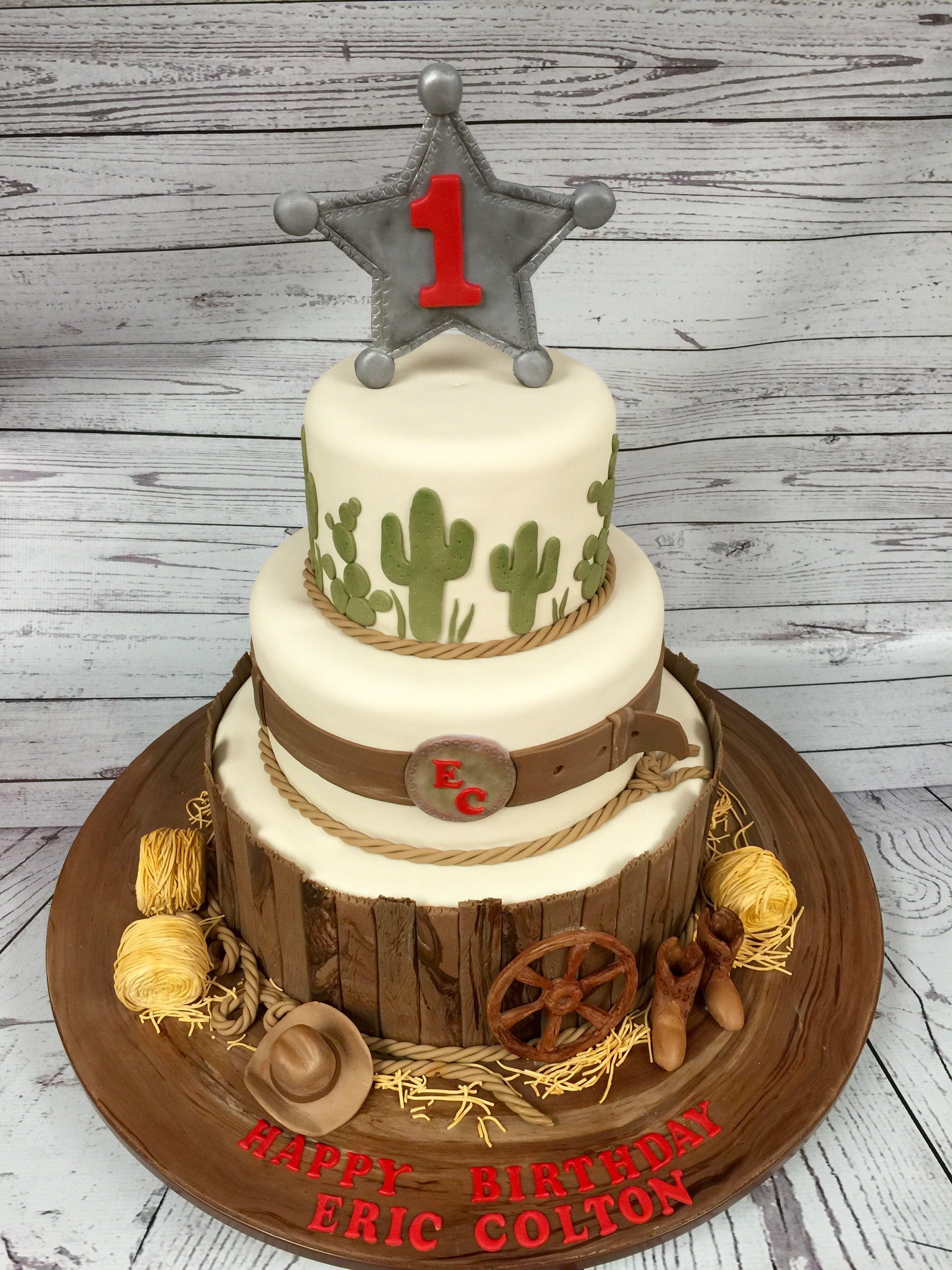 Superb 1St Birthday Boy Cowboy Birthday Cakes Rodeo Birthday Parties Funny Birthday Cards Online Alyptdamsfinfo