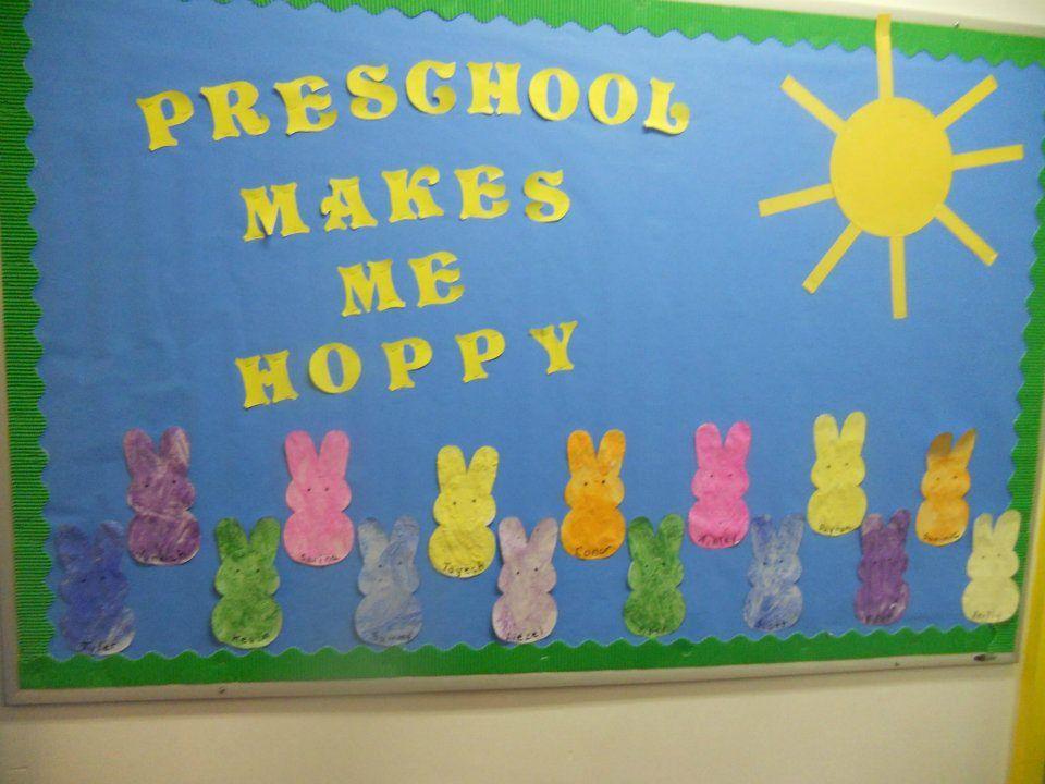A Cute Idea For Easter Easter Preschool Easter Bulletin Boards