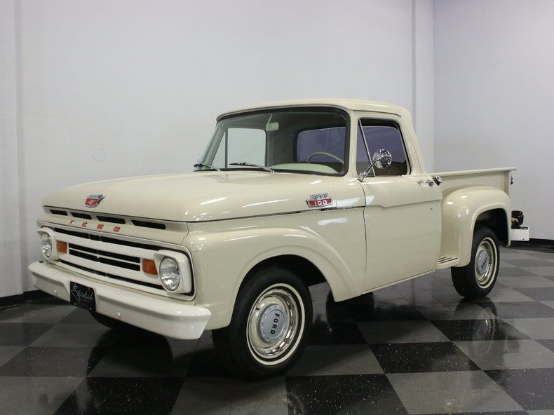 Were You Around When A Gallon Of Milk Costed 49 Cents If So This 1964 Ford F 100 Might Be Up Your Alley Classic Pickup Trucks Classic Ford Trucks 1964 Ford