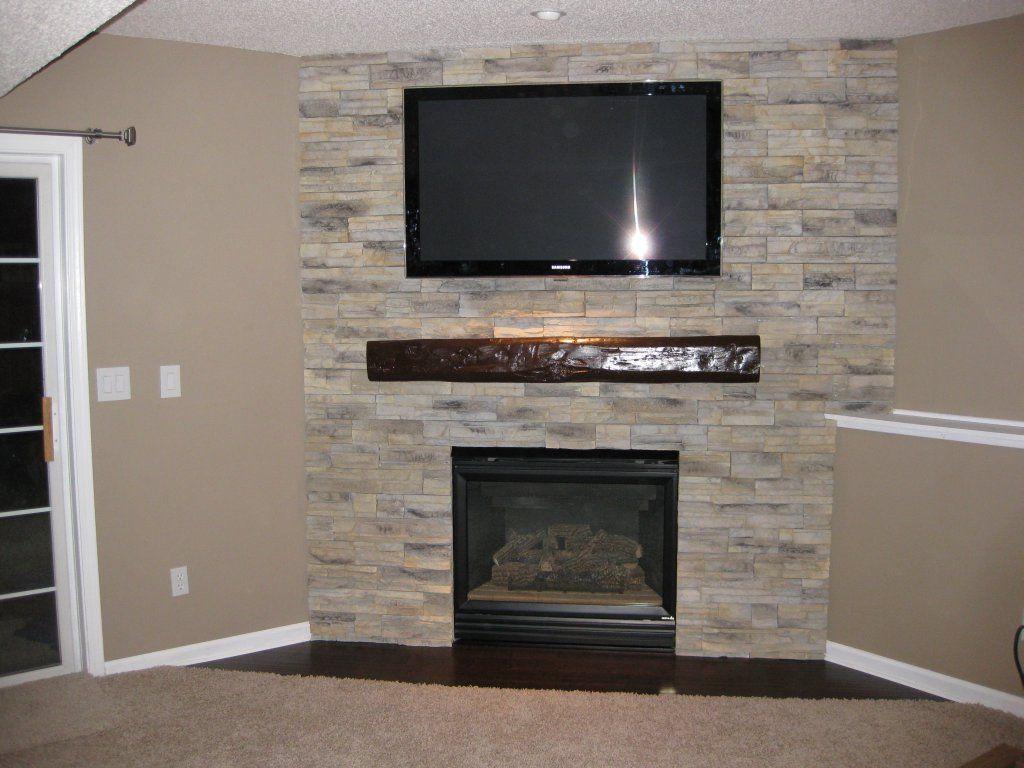Corner stone fireplace fireplaces pinterest corner for Corner stone fireplace