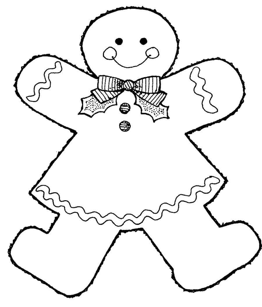 Gingerbread Girl Coloring Page | Christmas | Pinterest | Gingerbread