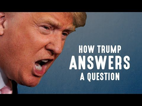 How Donald Trump Answers A Question This Is The Story How Donald Trump Is Going To Ruin The Usa