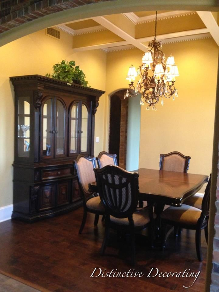 dining room trim & coffered ceilings!! | Coffered ceiling