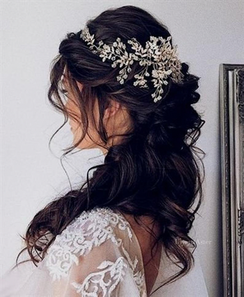 Bridal Hair Vine Bridal Hair Clip Wedding Headpiece Wedding Hair Piece Bridal Hair Pieces Crystal Bridal Hair Piece Wedding Hair Accessories