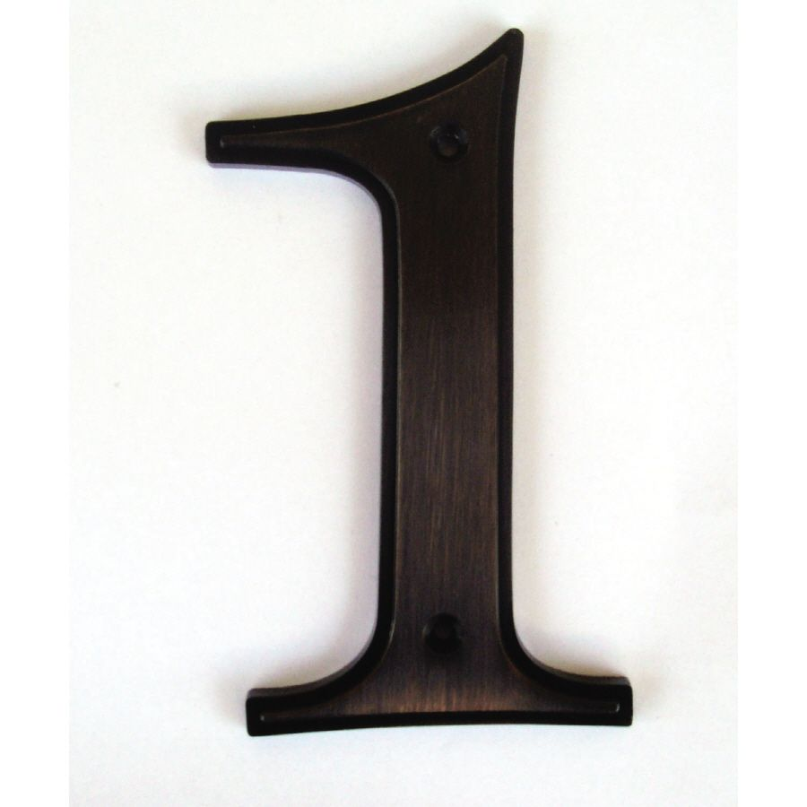 Gatehouse 5 In Aged Bronze House Number 1 Lowes Com Bronze House House Numbers Bronze