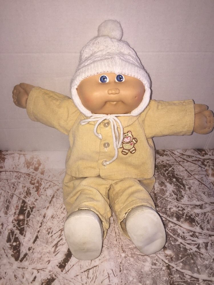 1986 Cabbage Patch Kids 16 034 Bald Boy Doll One Dimple Teddy Bear Suit Amp Hat Shoes Cabbage Patch Kids Dolls Cabbage Patch Kids Cabbage Patch Kids Boy