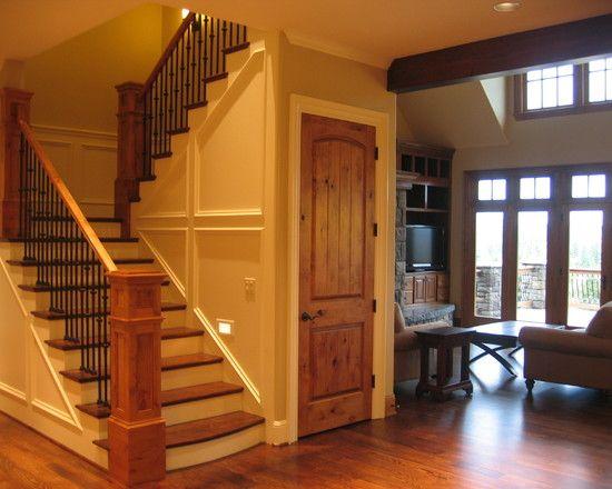 Best Knotty Alder Design Door Stairway Railings With Images 400 x 300