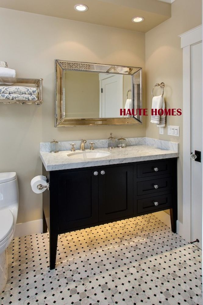 """HORCHOW LARGE 48"""" DOUBLE BEADED FRAME VENETIAN WALL VANITY ..."""