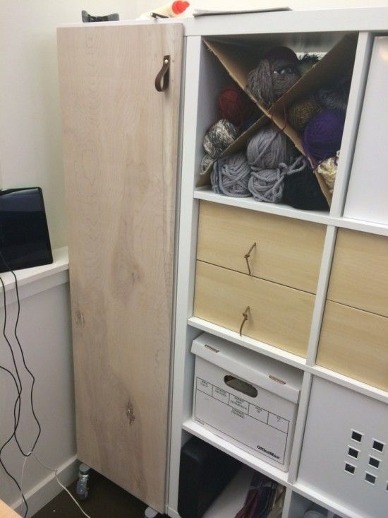 How To Add Doors To Kallax Craft Cabinet Ikea Expedit