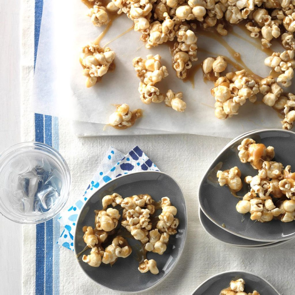 Chewy CaramelCoated Popcorn Recipe in 2020 Popcorn
