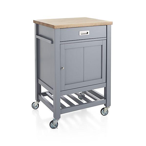 Sheridan Grey Kitchen Cart | Crate and Barrel | Dream Home Ideas ...