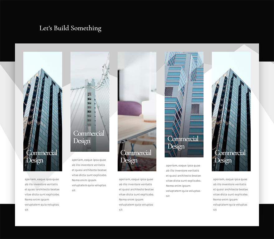 How To Design A Responsive Five Column Showcase Layout With Divi Design Layout Fifth Column