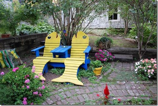 adirondack fish chairs backyard in nova scotia outdoor coastal beach nautical decor ideas. Black Bedroom Furniture Sets. Home Design Ideas