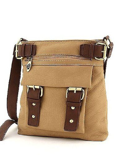 Tan Brown Hipster Cross Body Messenger Purse Handbag Incorporated Online Ping To See Or