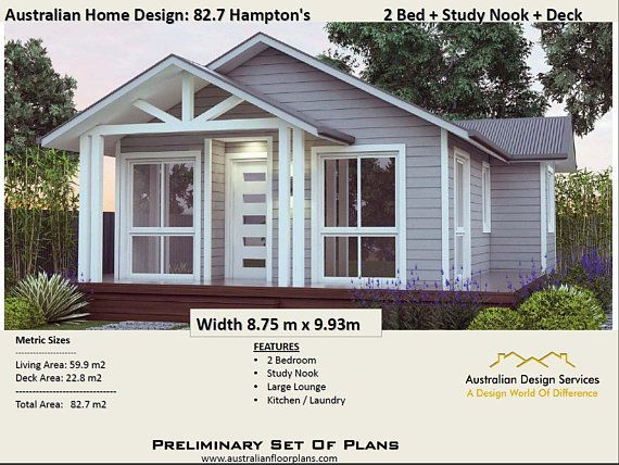 sq feet or  hamptons style bed study granny flat concept house plans for sale also rh pinterest