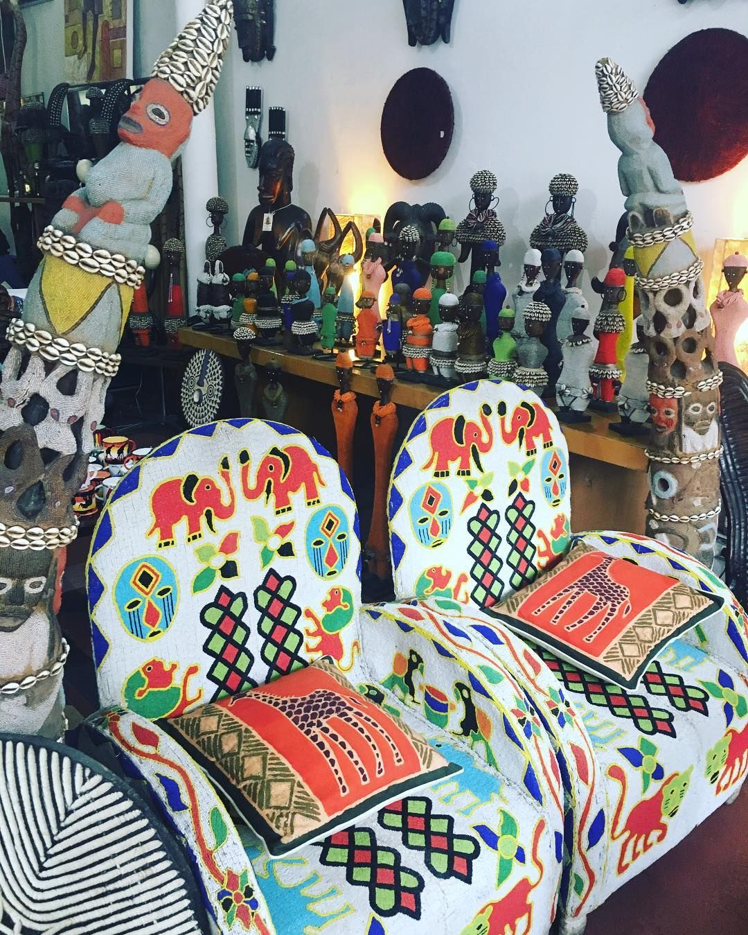 African beaded chairs from Nigeria. capetown southafrica
