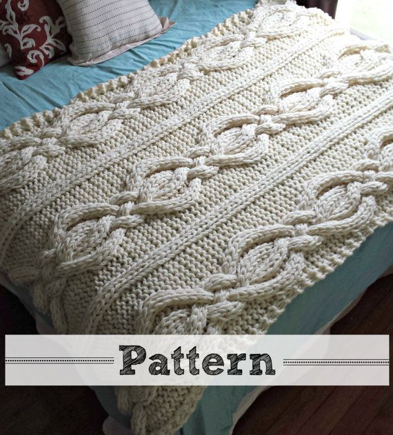 Twisted Cable Knit Blanket Pattern Cable Knit Blankets Knitting