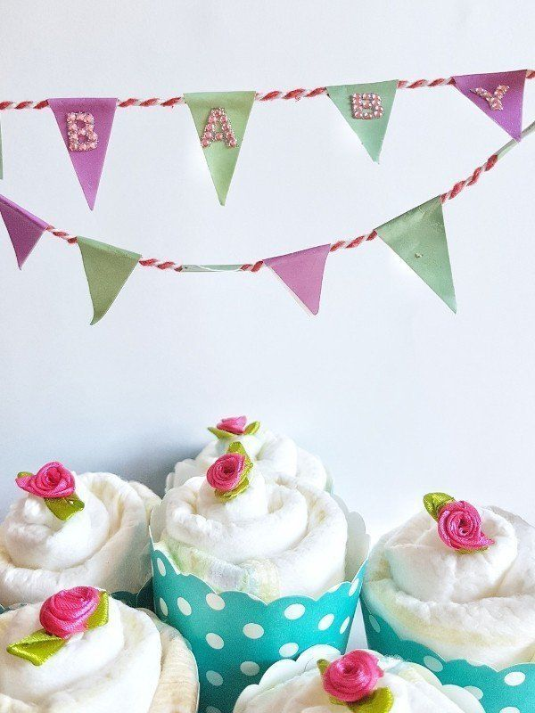 Hallo Baby Windel Cupcakes Geschenk Zur Geburt Windel