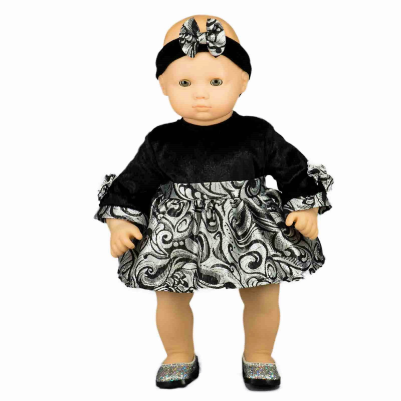 The Queen S Treasures 15 Inch Baby Doll Clothes Party Dress Headband Outfit Compatible With American Girl S Bitty Baby Twins Walmart Com In 2020 Bitty Baby Clothes Baby Clothes Patterns