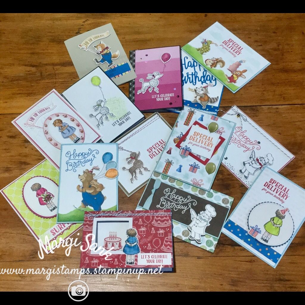 My goodness the collection of stampin up birthday delivery bundle
