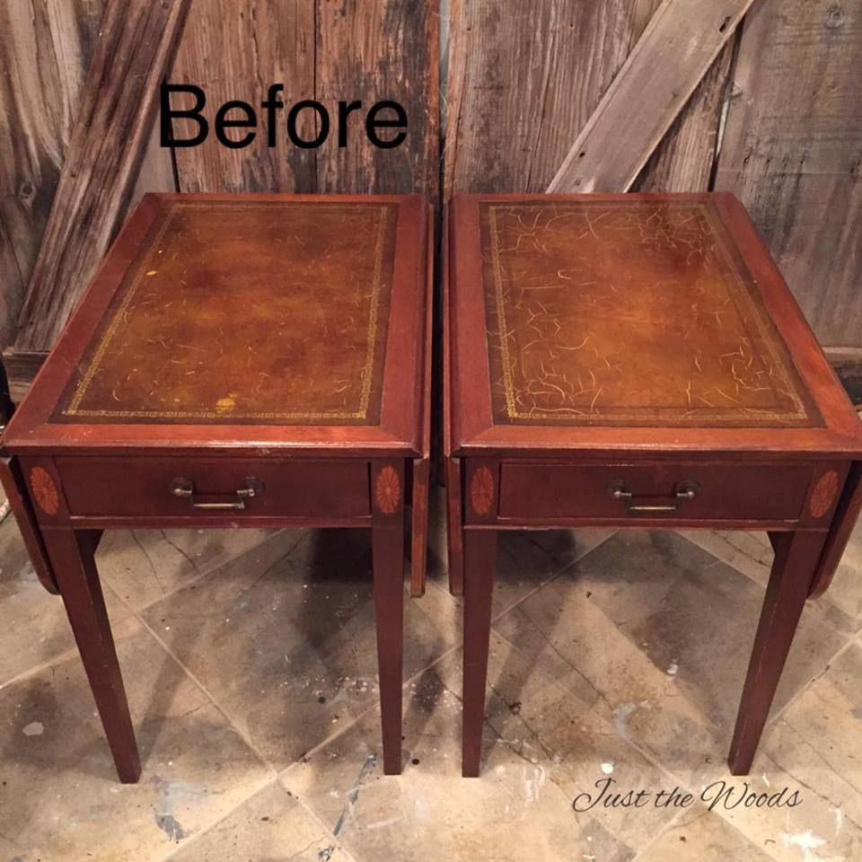 Yes, You Can Paint Leather Furniture Vintage Drop Side