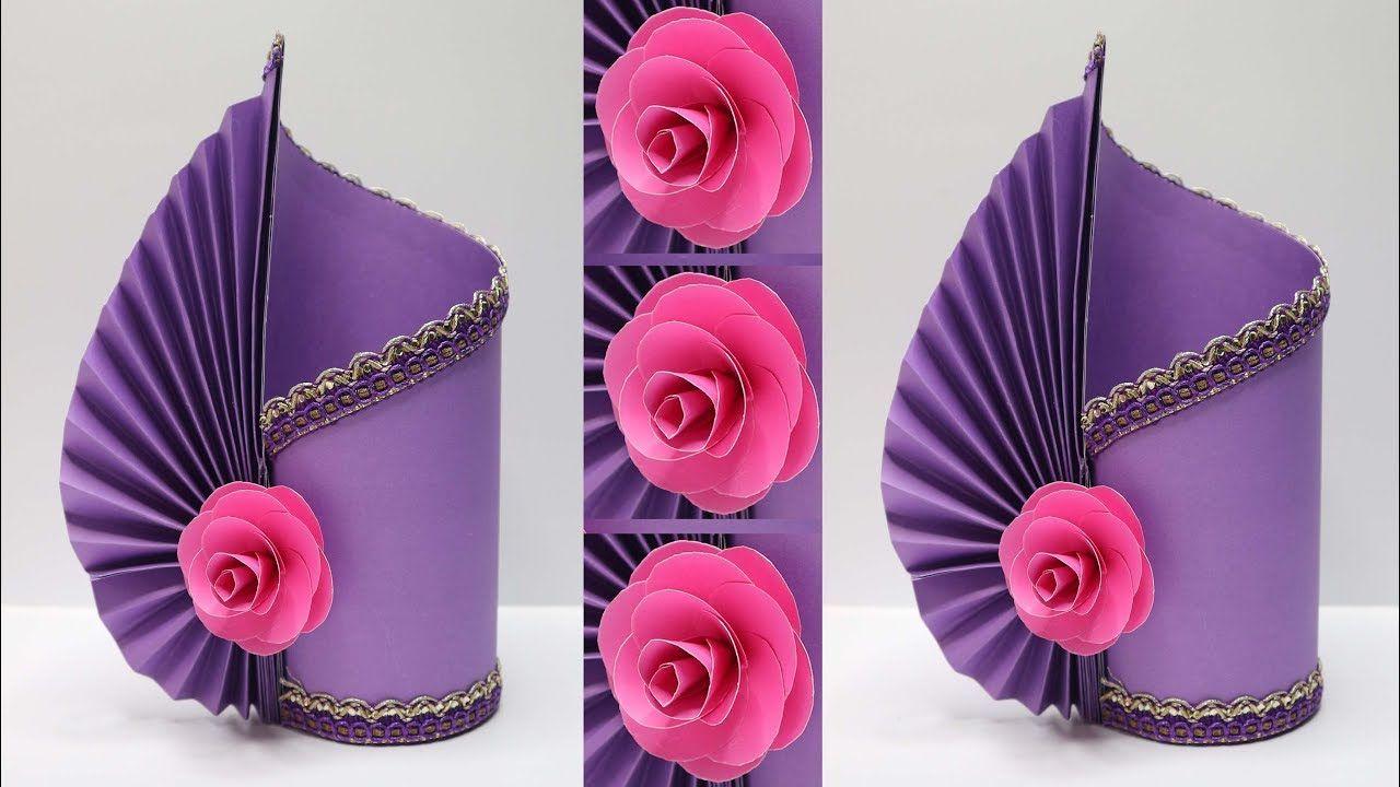 Vas Bunga Cantik Dari Kertas Mudah Banget Paper Flower Vase