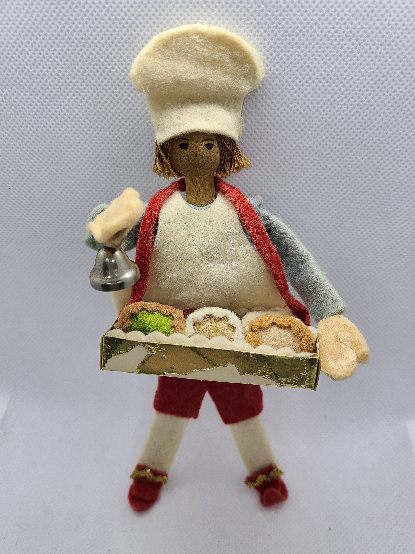 Vintage Nursery Rhyme Christmas Ornament Muffin Man Do