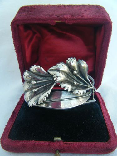 An Impressive Vintage Art Deco Period or Style Silver Georg Jensen Styled Bangle
