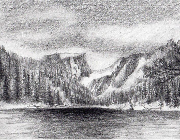 Drawing Mountains Can Be A Peak Experience With These Simple Tricks Mountain Drawing Landscape Drawings Mountain Sketch