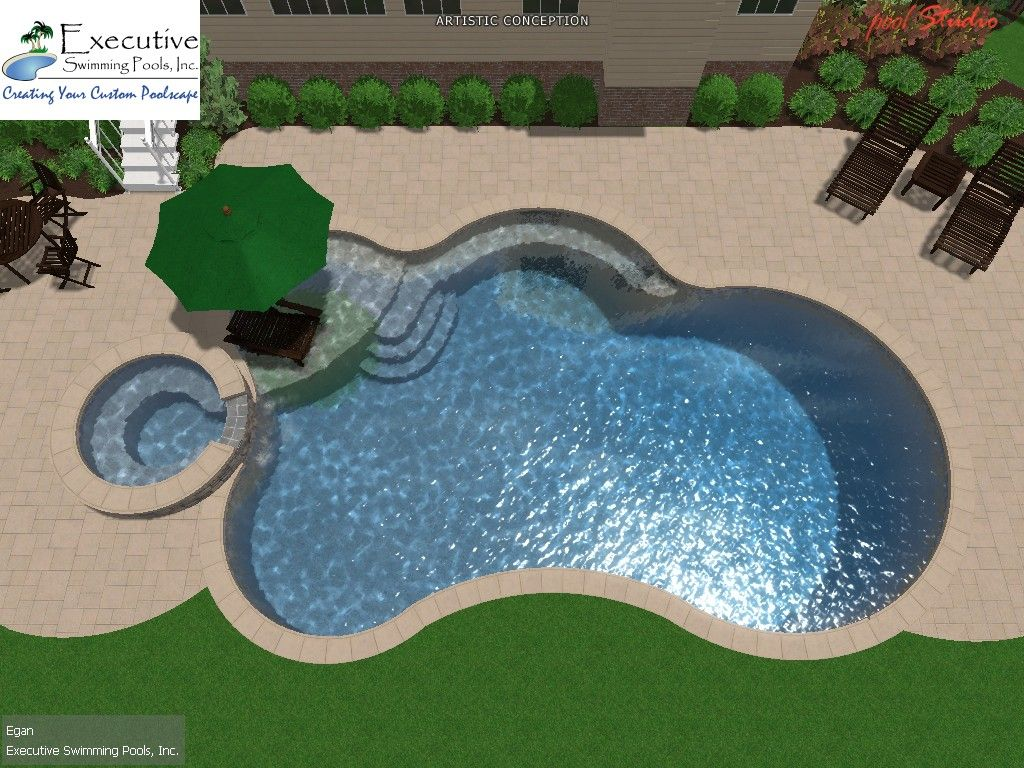 Check out this design we 39 re working on exec swim pools - Best backyard swimming pool designs ...