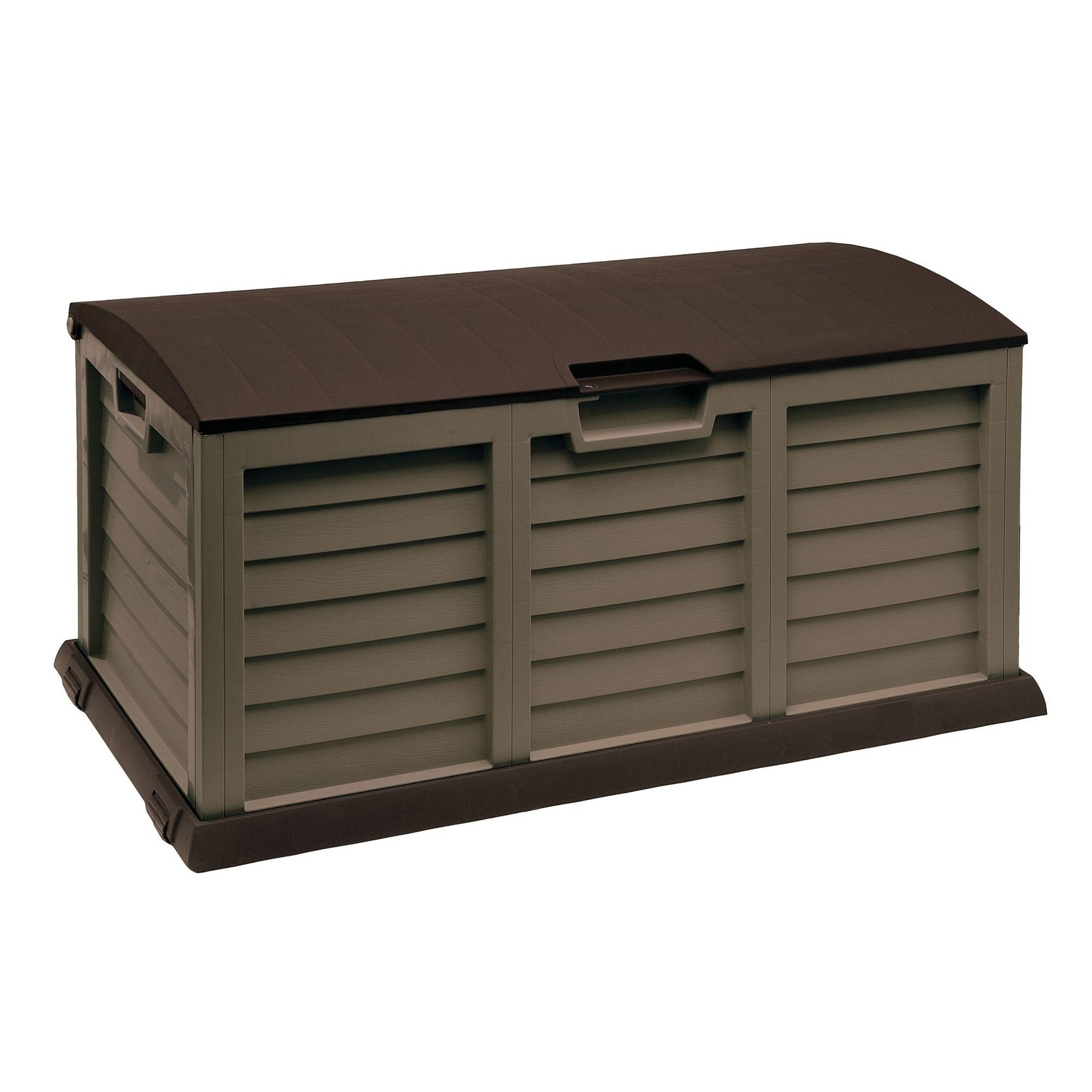 gallon deck box with dome lidmochabrown deck box mocha