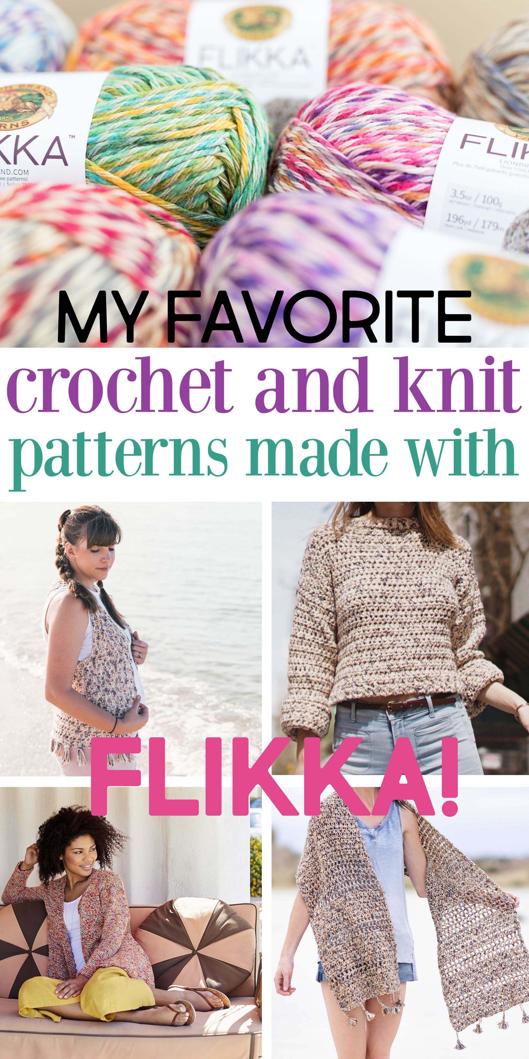 10 Lion Brand Flikka Crochet Knit Patterns Sewrella Free Crochet Pattern Crochet Cardigan Pattern Crochet
