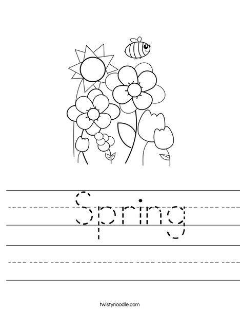 Spring Worksheet - Twisty Noodle | Spring worksheet ...