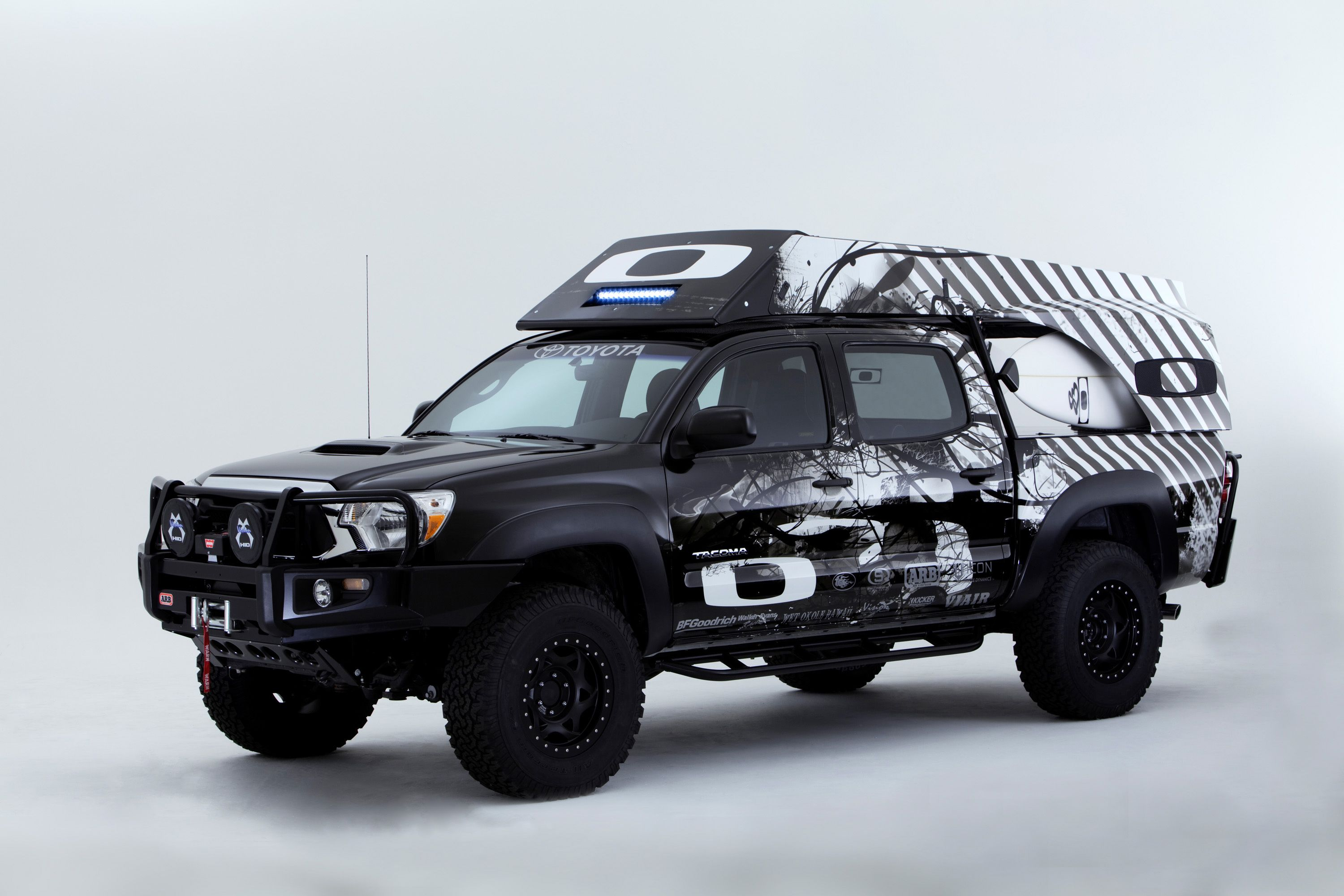 Built using a rugged Toyota 4x4 pickup equipped