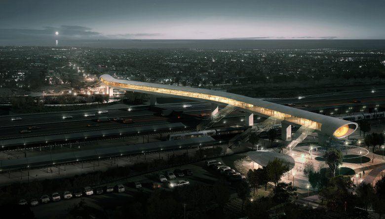 Danmarks nye kæmpestation svæver over to motorveje
