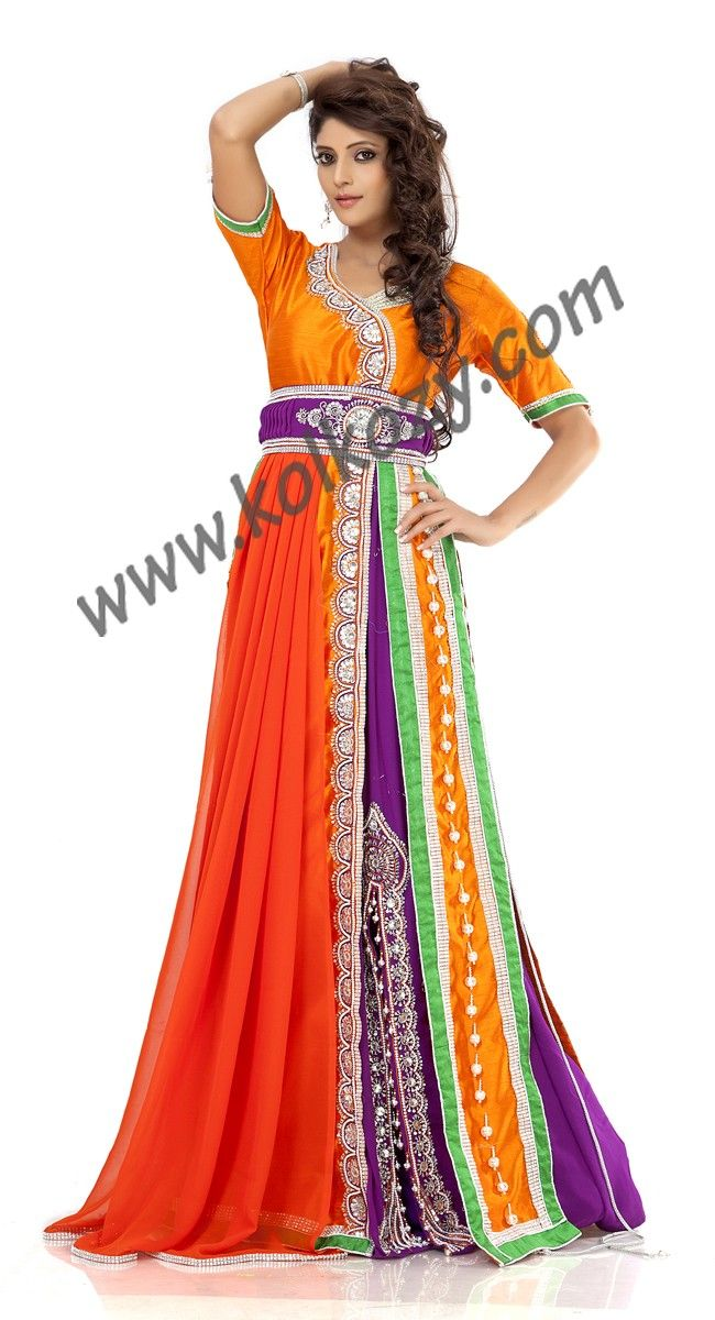 Designer moroccan kaftan style dresses with pants