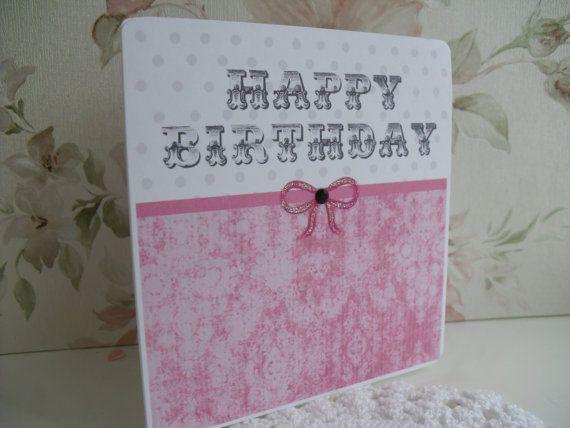 Shabby Chic Birthday Card por alisonatpaperlace en Etsy, £1,95
