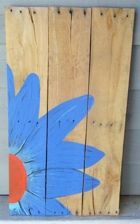 Blue Spring Starflower Pallet Wall Art - Home decor, spring, flowers ...