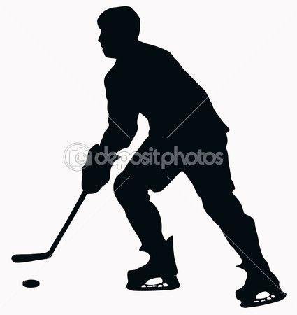 Sport Silhouette Ice Hockey Player Ice Hockey Ice Hockey Players Hockey