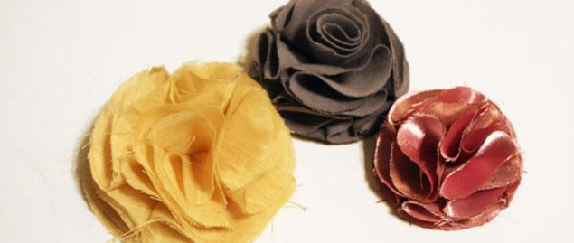 Fabric Flowers: Flowers, Hair, Diy, Fabric