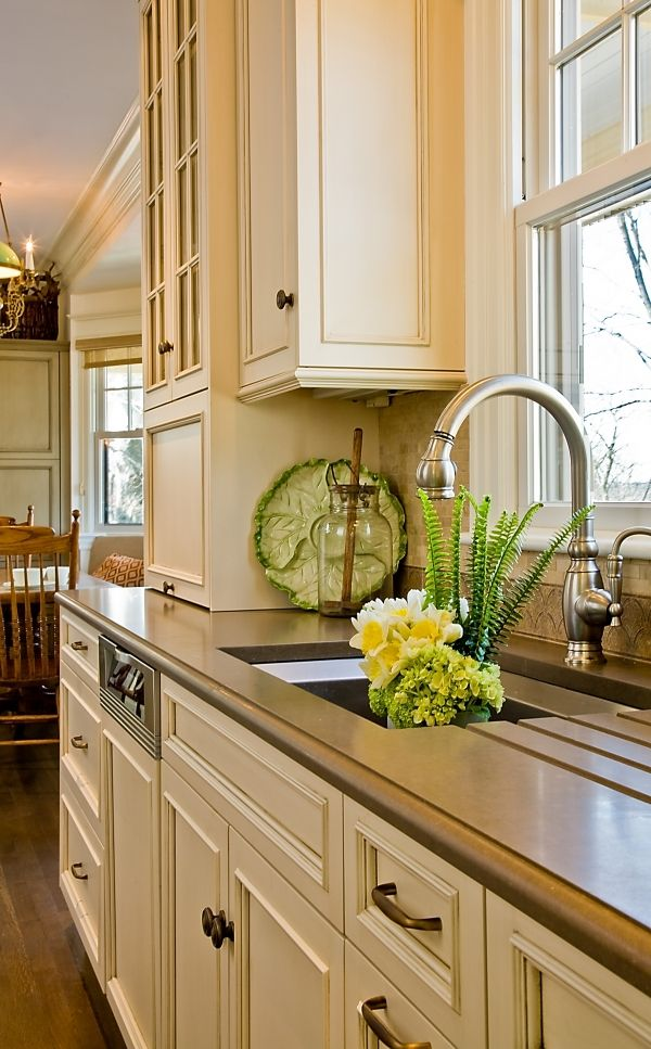 A lovely cream colored country kitchen... | Painted ...