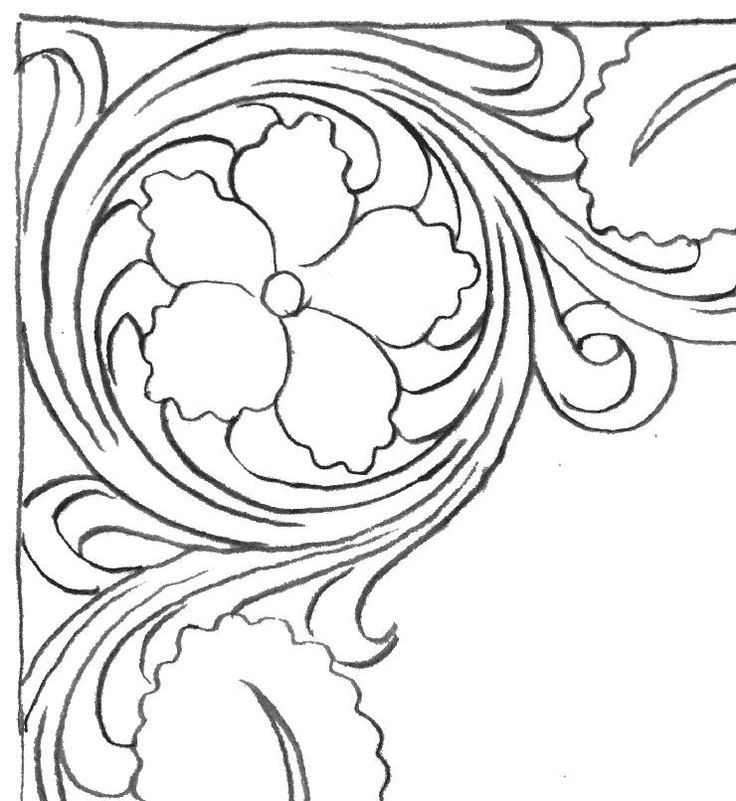 Canny image inside printable leather tooling patterns