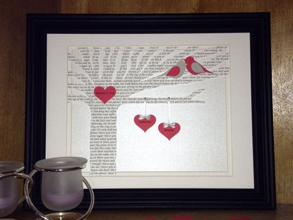 Rush order personalized first year anniversary gift for 1st wedding anniversary paper gift ideas
