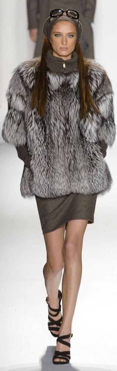 Michael Kors silver fox fur