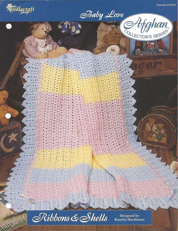 Crochet Baby Afghan Pattern, Nursery Decor Bedding, Crib Blanket ...